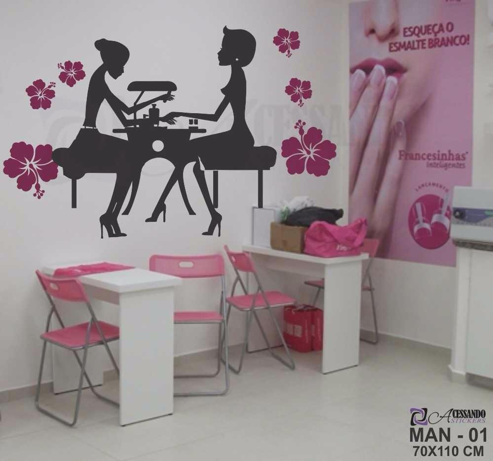Adesivo papel parede manicure cabeleireiro exclusivo for Papel pared barato