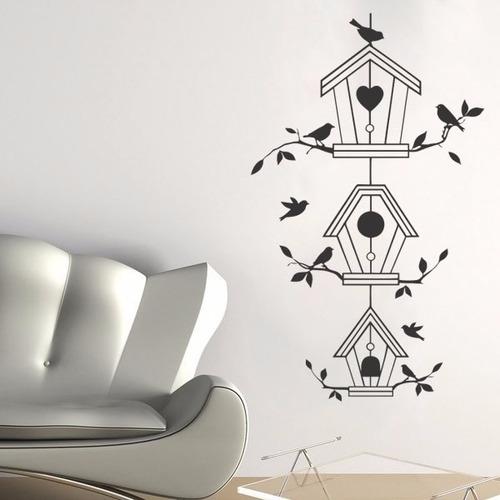 adesivo papel parede passarinhos pássaros gaiolas ninho bird