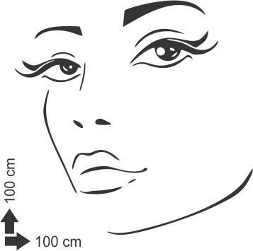 adesivo papel parede salão de beleza cabeleireiro mulher 1x1