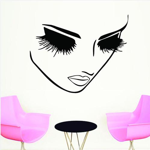 adesivo papel parede salão de beleza cabeleireiros 50x70 cm