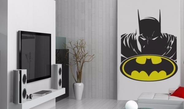 Adesivo Papel Parede Super Herois Batman Liga Da Justiça New  R$ 120,38 em M