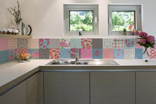 adesivo para azulejo - floral - mudo minha casa