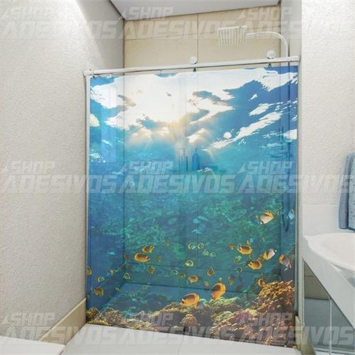 Adesivo Infantil De Parede ~ Adesivo Decorativo Para Banheiro Box E Vidro 3d Fundo Do Mar R$ 65,00 em Mercado Livre