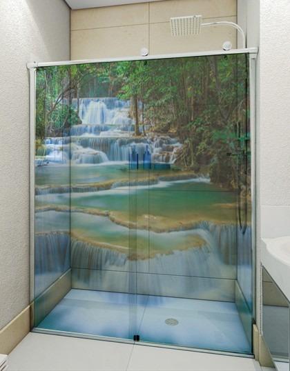 Adesivo De Banheiro ~ Adesivo Transparente Decorativo Para Box Banheiro E Vidro R$ 50,00 em Mercado Livre