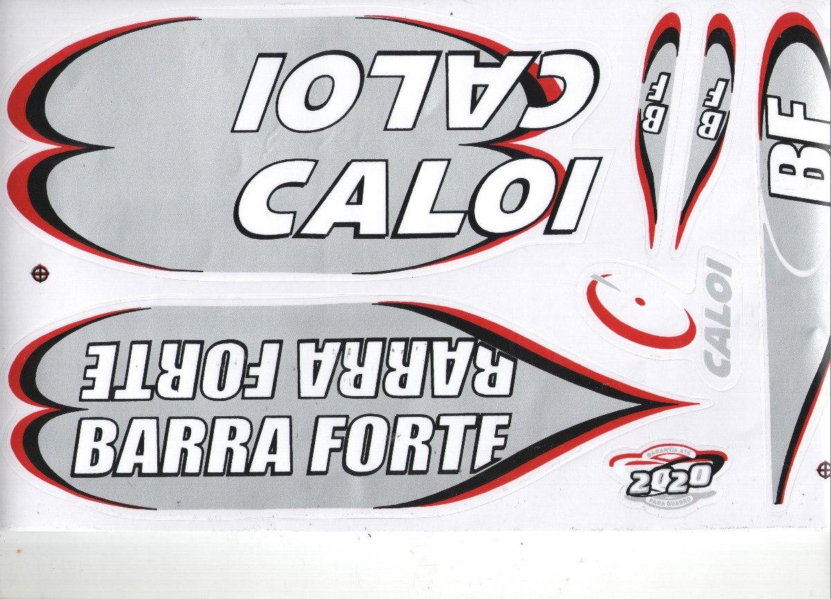 Adesivo Para Bicicleta Caloi Barra Forte Bf 2020 Prata R 11 99