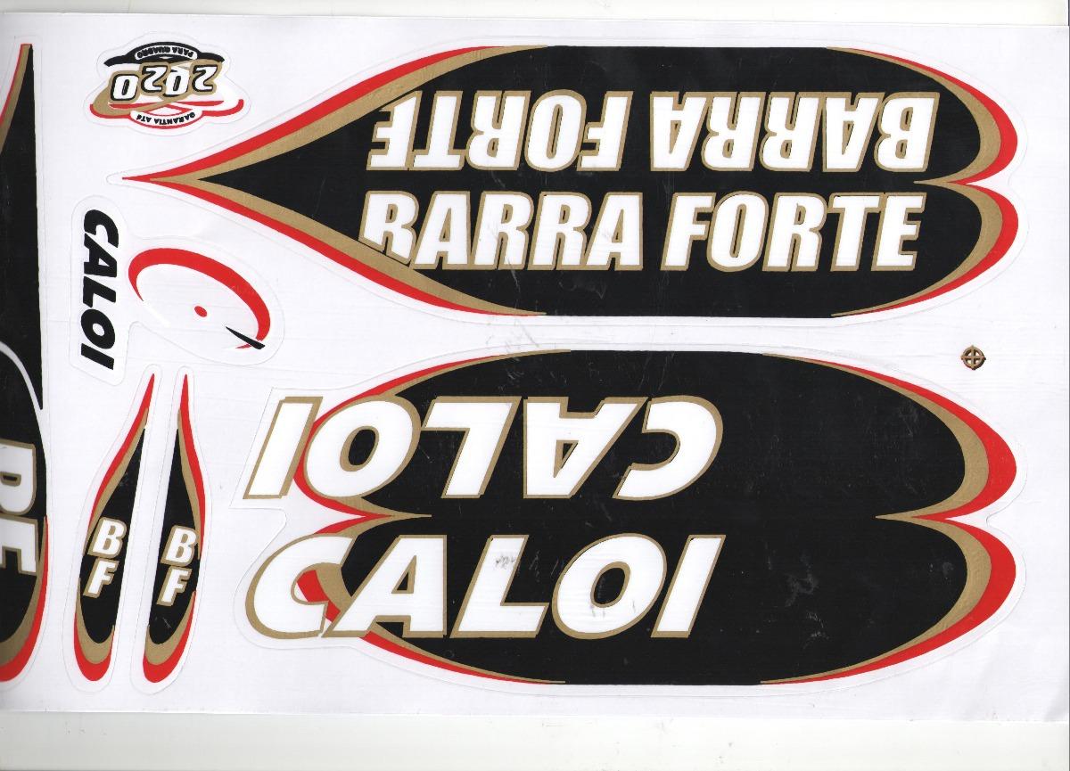 Adesivo Para Bicicleta Caloi Barra Forte Bf 2020 Preto R 11 99
