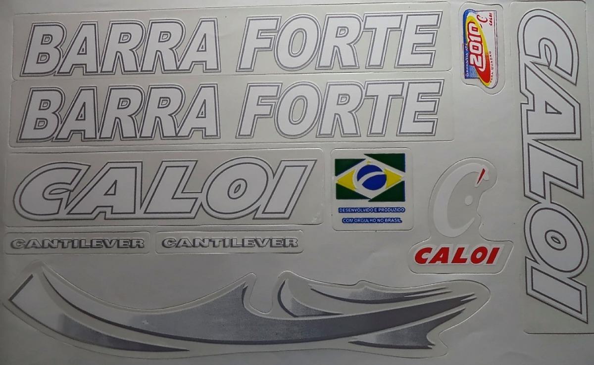 Adesivo Para Bicicleta Caloi Barra Forte Branco Frete Gratis R