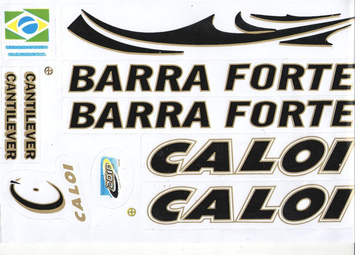 Adesivo Para Bicicleta Caloi Barra Forte Cantilever Prata R 11
