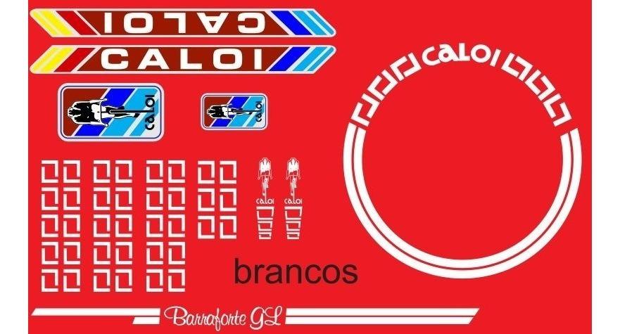 Adesivo Para Bicicleta Caloi Barra Forte Gl 1985 Metalizado R