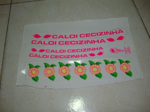 Adesivo De Parede Feminino ~ Adesivo Para Bicicleta Caloi Cecizinha R$ 20,00 em Mercado Livre