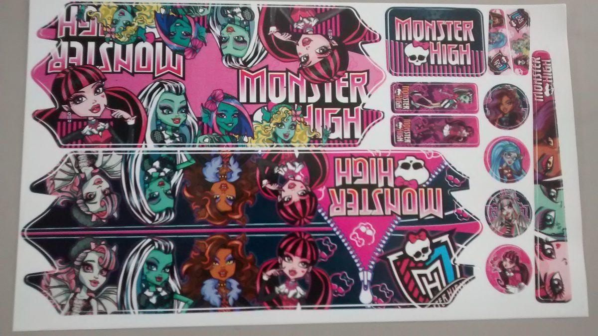 Aparador Area ~ Adesivo Para Bicicleta Infantil Personagem Monster High R$ 6,00 em Mercado Livre