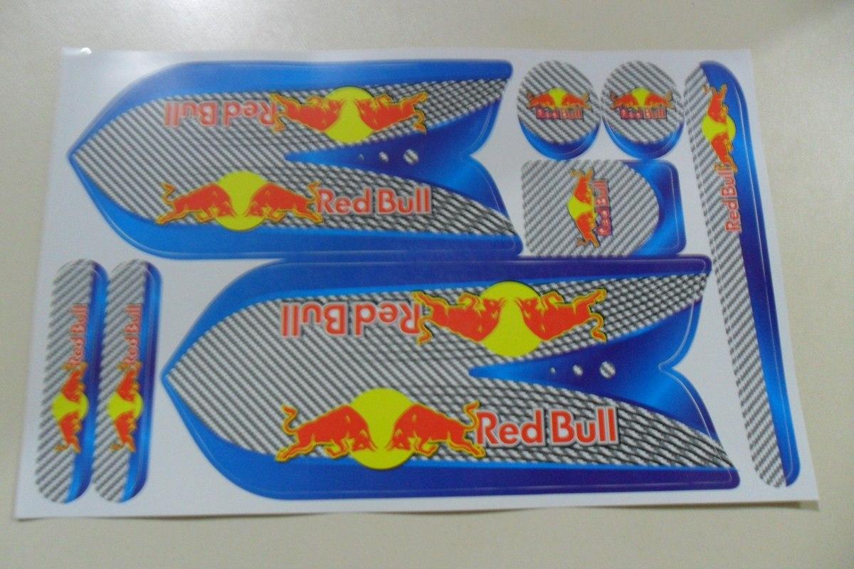 Armario Jardin Resina ~ Adesivo Para Bicicleta Red Bull R$ 15,99 em Mercado Livre