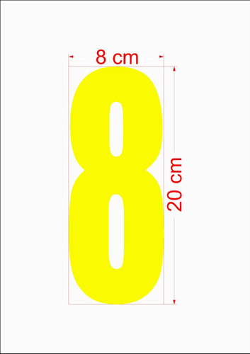 adesivo para brisa de automóvel kit com 200 numeros