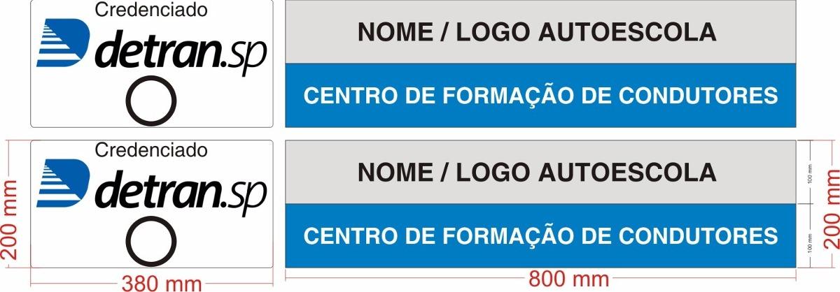 Adesivo Para Carro Autoescola Novo Padr u00e3o Detran Sp R$ 120,00 em Mercado Livre