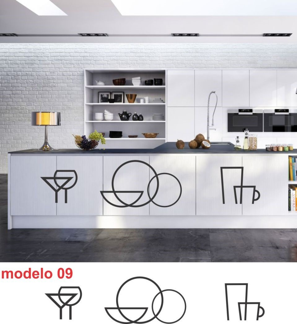 Adesivo De Parede Coruja ~ Adesivo Decorativo Para Armario De Cozinha Em Recorte R$ 42,29 em Mercado Livre