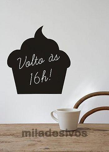 adesivo para decoração parede - lousa para escrever - bolo