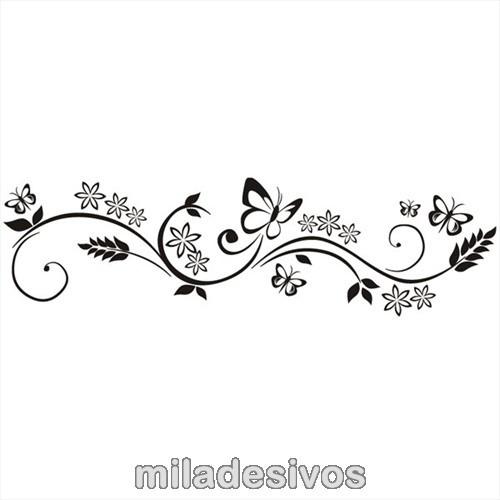 Desenho De Borboletas E Flores Mmod