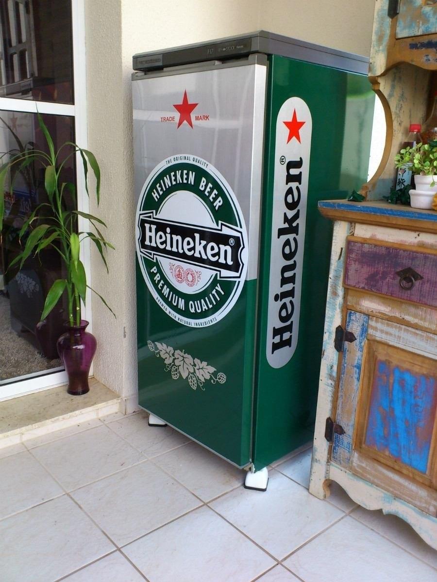 Armario Planejado Para Cozinha Pequena ~ Adesivo Para Envelopamento Completo De Geladeira Heineken R$ 129,90 em Mercado Livre