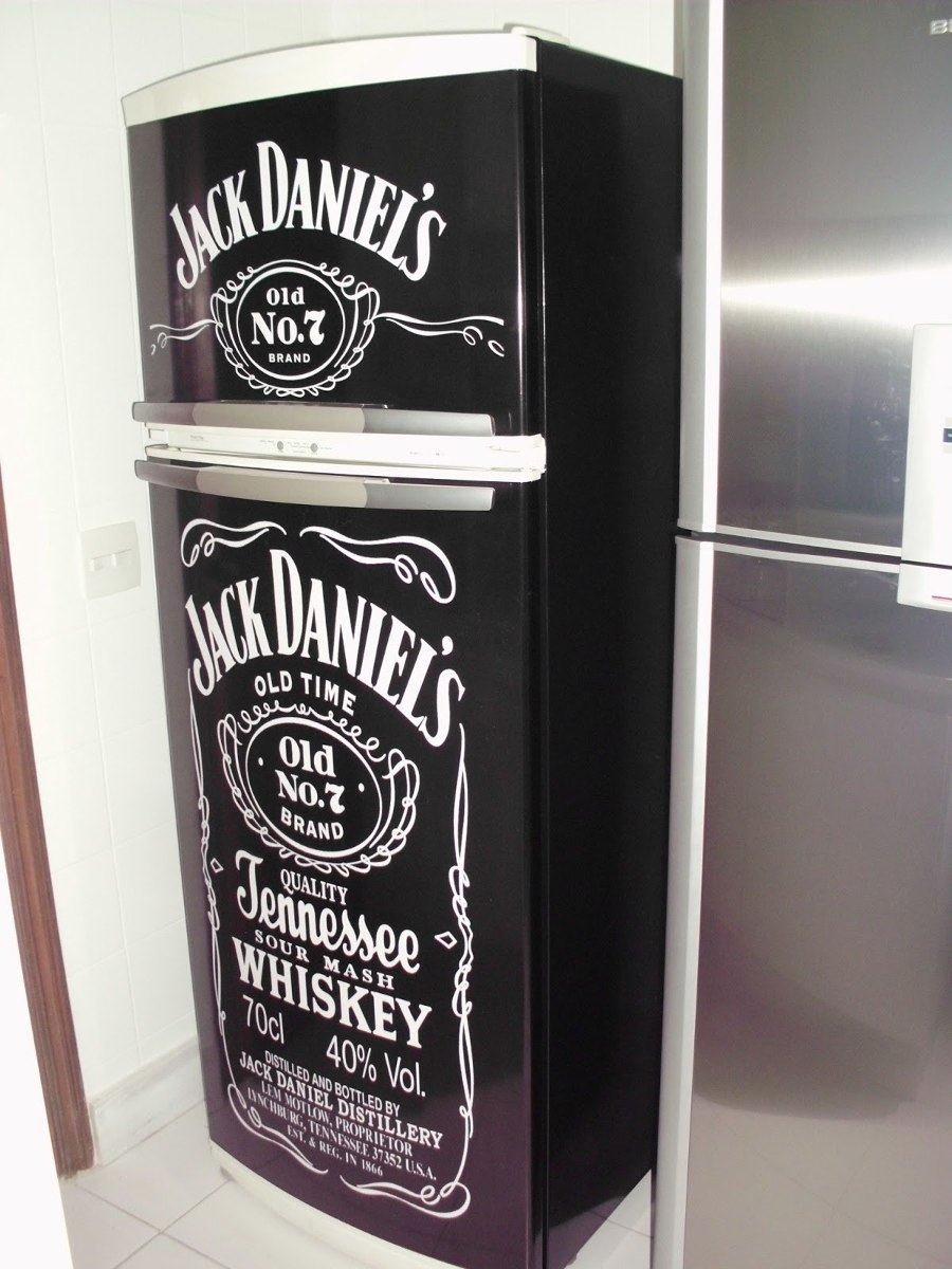 Artesanato Indigena Manaus ~ Adesivo Para Geladeira Completa Jack Daniels R$ 160,00
