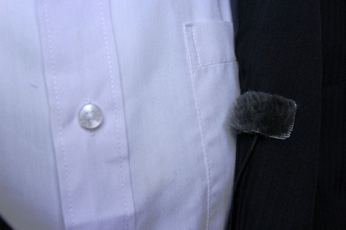 adesivo para microfone lapela + pelúcia antirruido