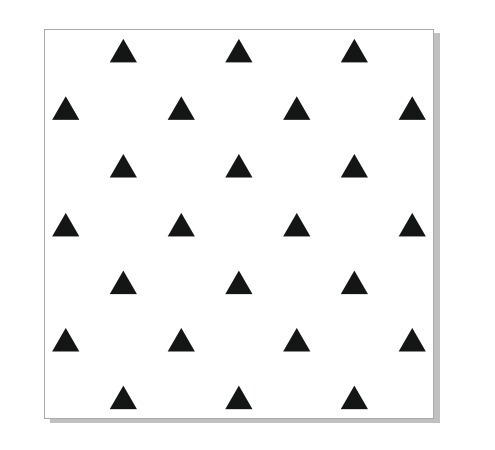 adesivo para parede de triângulos (cobre 1,5m²)