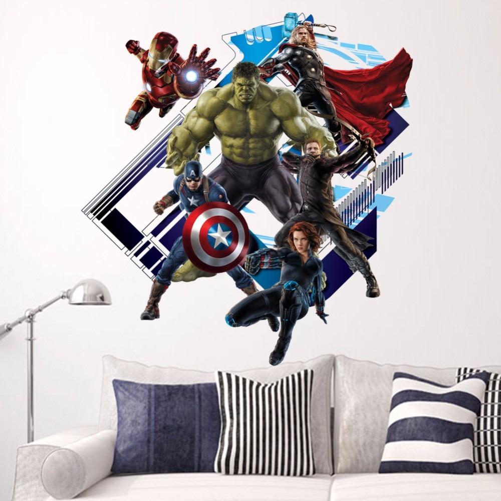Adesivo De Quarto Infantil ~ Adesivo Para Parede Em 3d Avengers Hulk Homem De Ferro R$ 69,90 em Mercado Livre