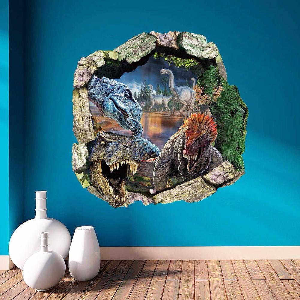Fotos Do Artesanato Alagoano ~ Adesivo Para Parede Em 3d Dinossauro Papel De Parede R$ 39,90 em Mercado Livre