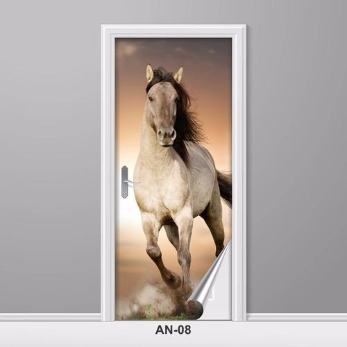 adesivo para porta animais cavalo de raça correndo decoração
