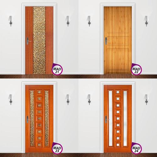 adesivo para porta - decoração casa ambiente madeira parede