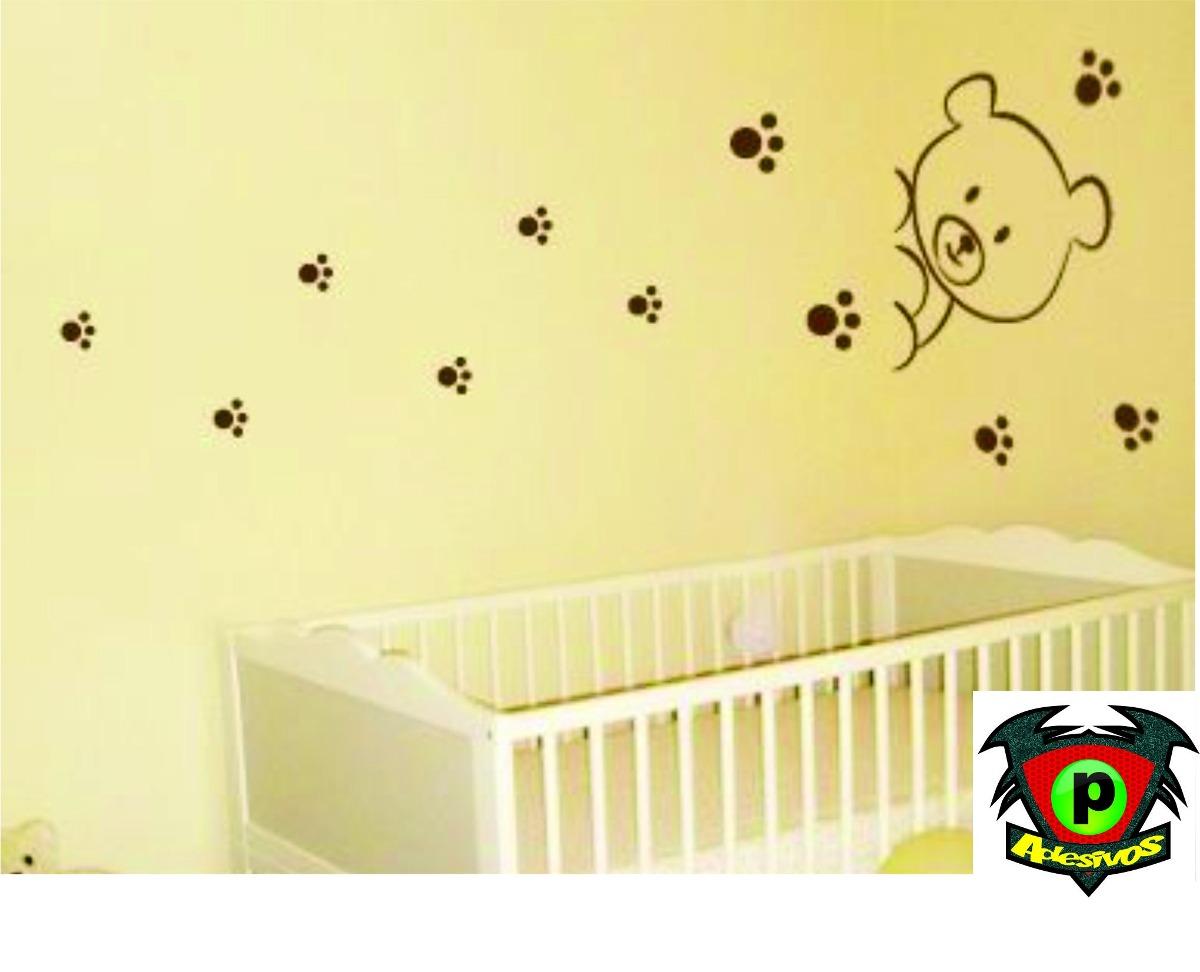 Aparador Pequeno Preto ~ Adesivo Decorativo Para Quarto Ursinho Decore Bebe R$ 69,99 em Mercado Livre