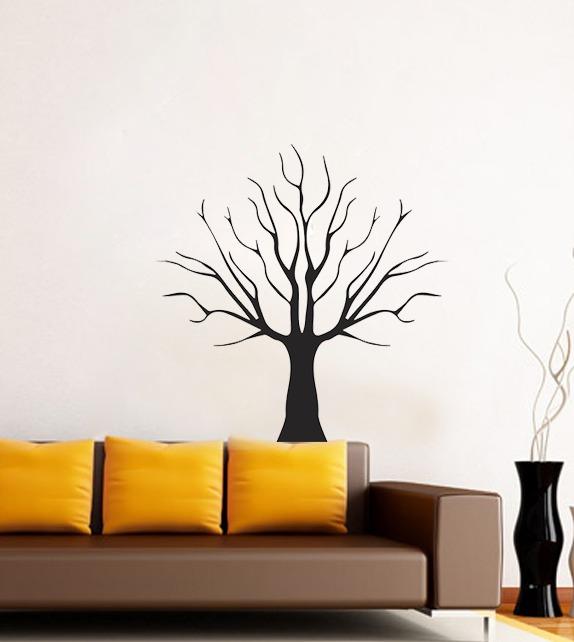 ebc1d049a Adesivo Para Sala Árvore Decorativa Com Galhos Secos - R  24