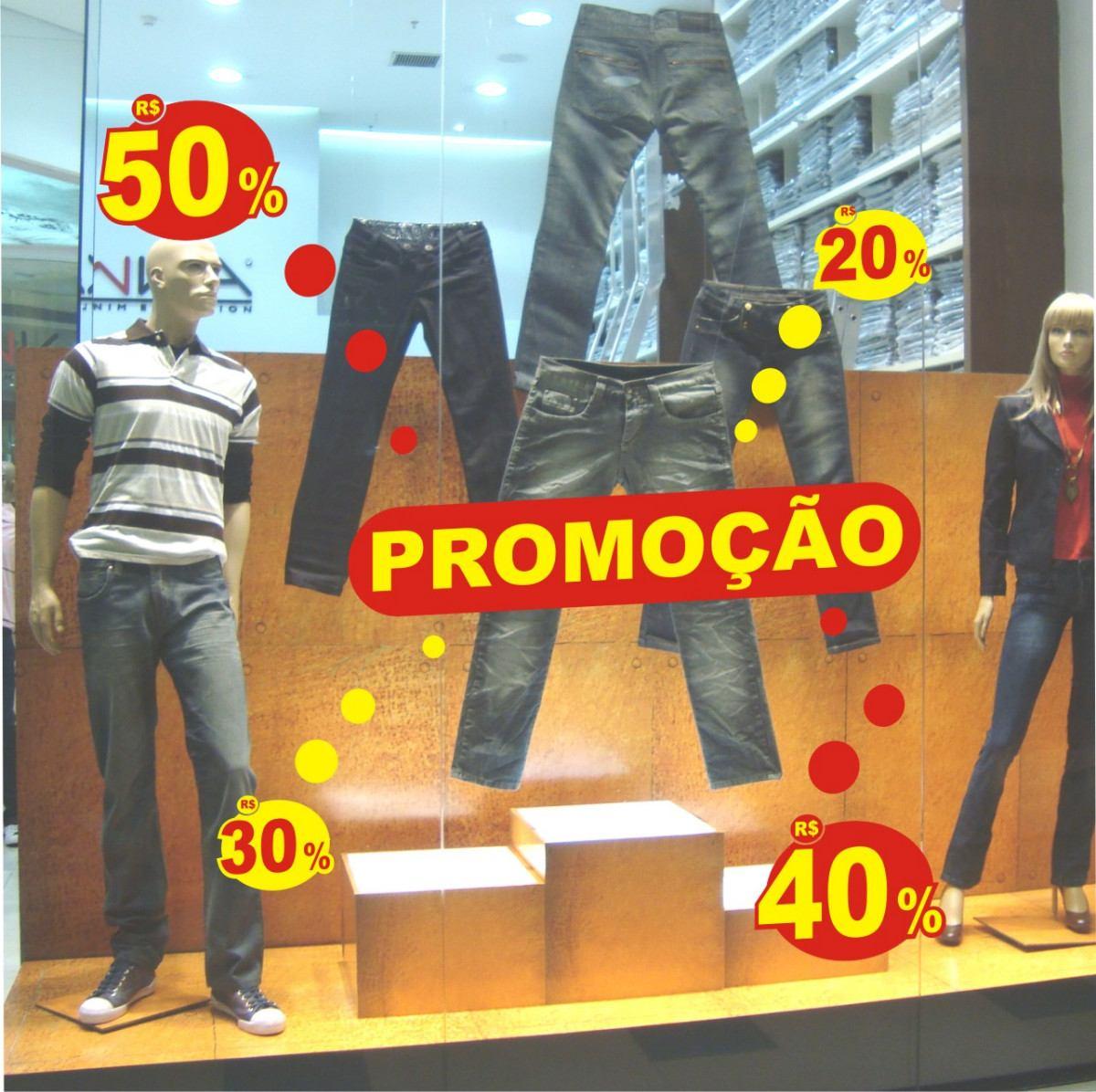 e71bdad06 adesivo para vitrine de lojas: promoção kit c/ 02 cores. Carregando zoom.
