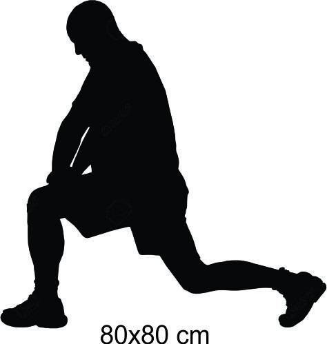 adesivo parede academia fitness musculação alongamento 80x80