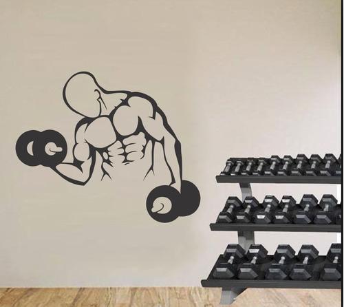 adesivo parede academia fitness musculação crossfit 90x110cm