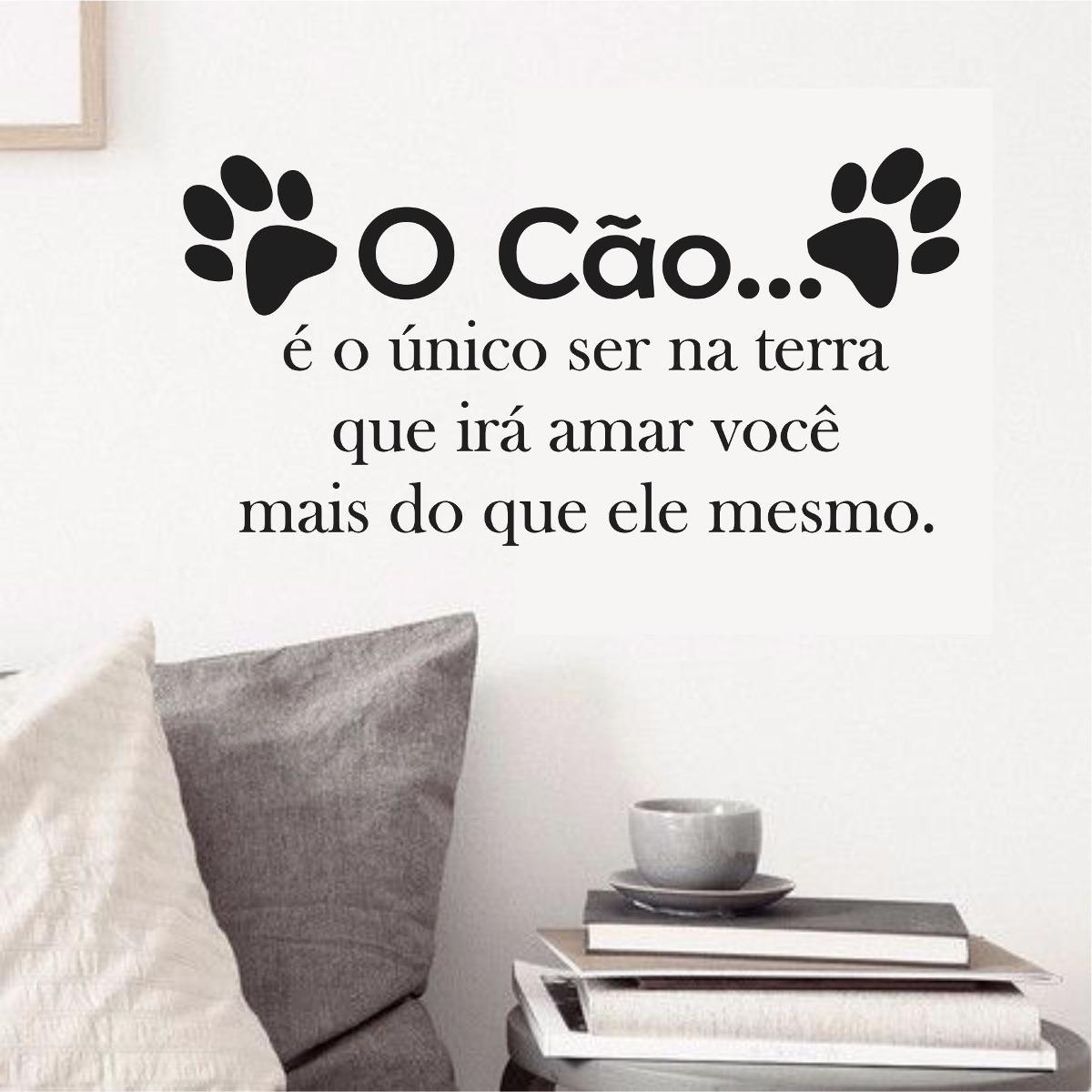Adesivo Parede Animais Cachorro Patas Frase Cão Amor Vida