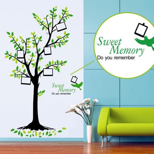 adesivo parede arvore da vida memórias fotos decoração