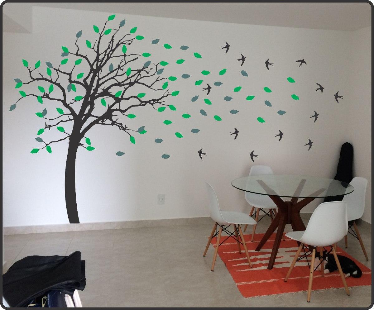 03cb01ad1 Adesivo Parede Árvore Galhos Folhas Gigante 3