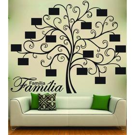 Adesivo Parede Árvore Genealógica Porta Retrato Personalizad