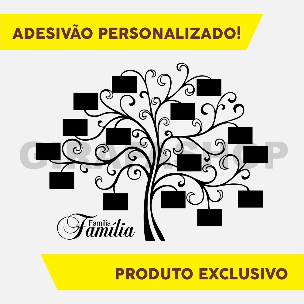 Adesivo Parede Arvore Genealogica Porta Retrato Personalizad R