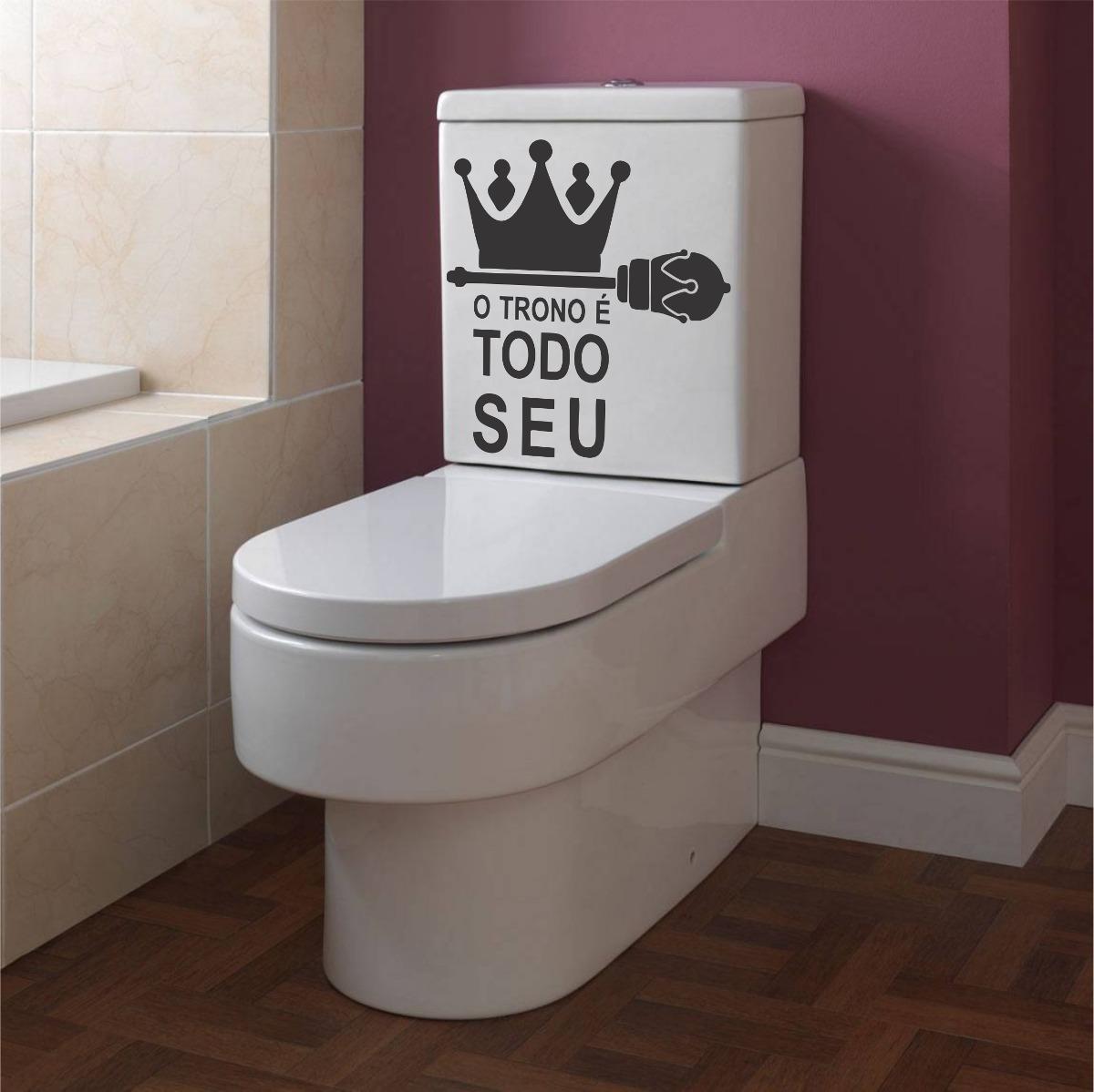 Adesivo Decorativo Parede Banheiro Vaso Assento Sanitário R$ 6 99  #412725 1200 1199