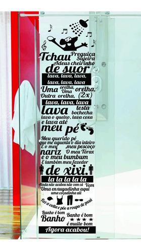adesivo parede banheiro box música ratinho castelo ratimbum