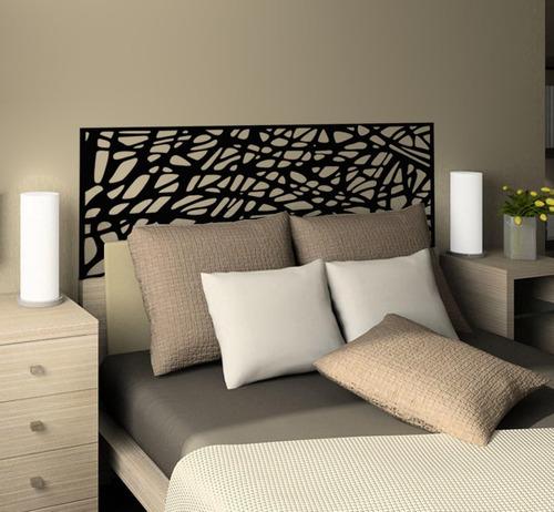 adesivo parede cabeceira abstrato cama quarto casal queen