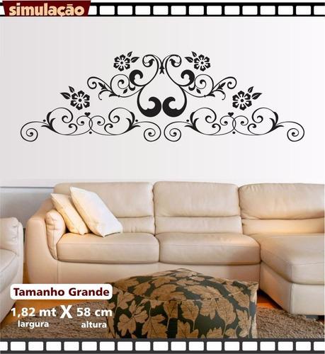 adesivo parede cabeceira arabesco sala decorativo grande