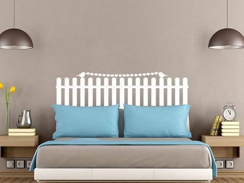 adesivo parede cabeceira cama passaro quarto casal 50x140 cm
