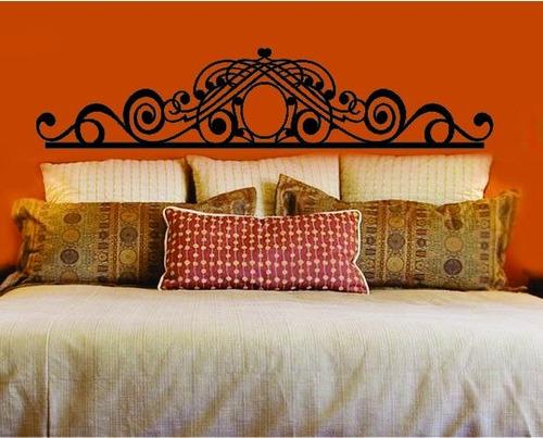 adesivo parede cabeceira cama quarto casal 35x160cm