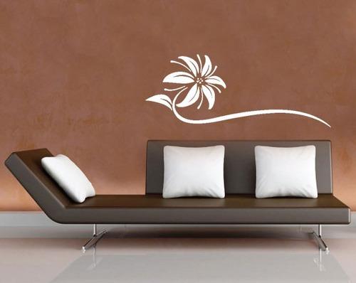 adesivo parede cabeceira cama quarto casal flor sala 140x55