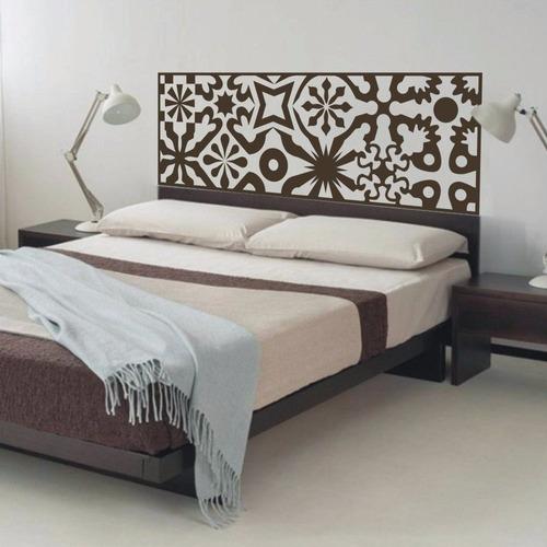 adesivo parede cabeceira cama quarto casal king 50x193 cm