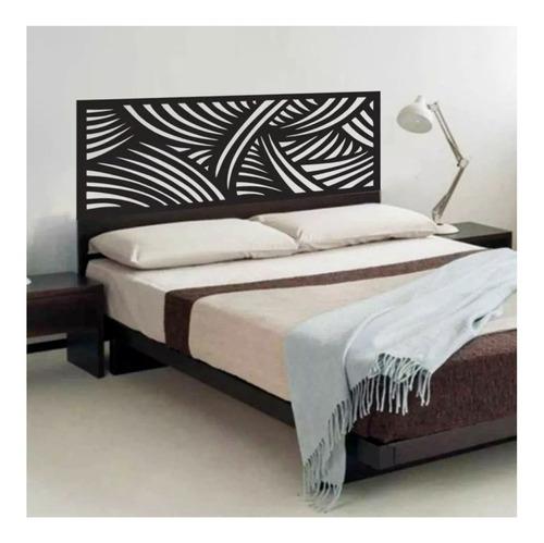 adesivo parede cabeceira cama quarto linhas casal 55x140