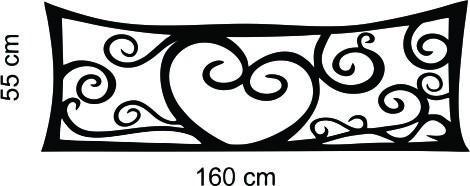 adesivo parede cabeceira cama queen casal 50x160 cm