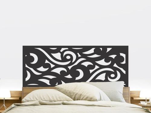 adesivo parede cabeceira cama vintage quarto casal 55x140cm